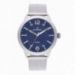 HARALD 45MM BLUE DIAL SILVER SS MESH