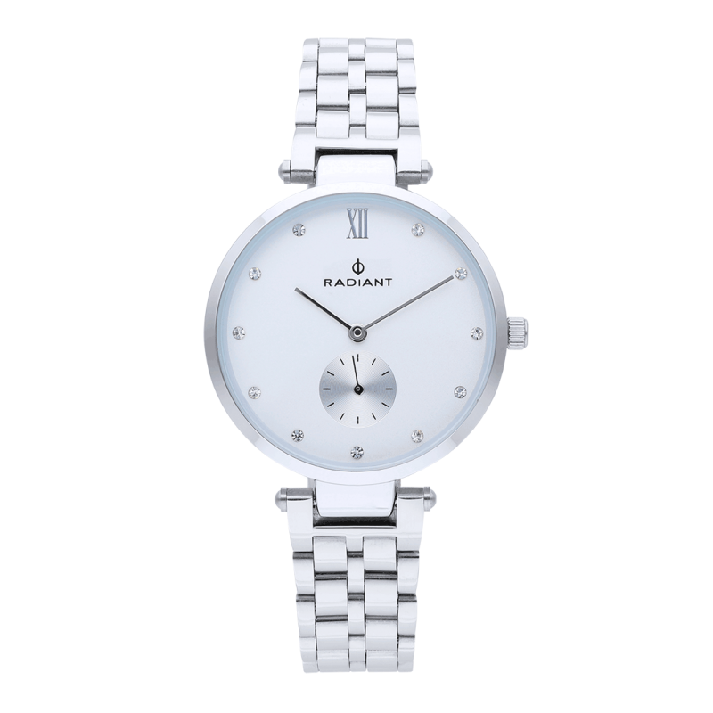 MAE 36MM WHITE DIAL SILVER SS BAND