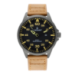 OAKWELL 46MM BLACK DIAL BROWN LEATHER ST