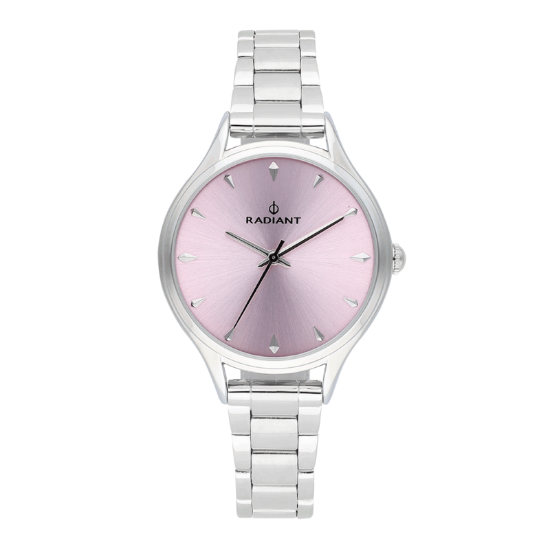AMIRA 36MM PINK DIAL SILVER SS BAND