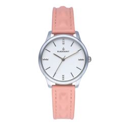 LEYA 34MM SILVER DIAL PINK...