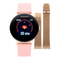 Reloj Smart WALL STREET 42mm IP ROSE GOLD SILI PINK
