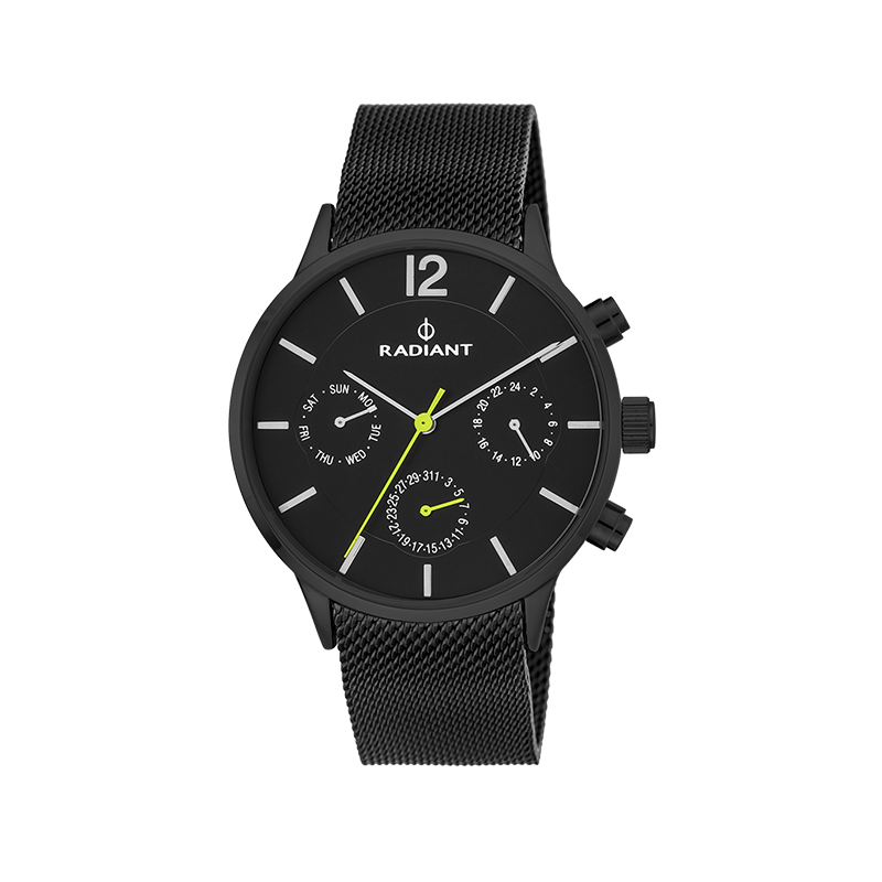 NORTH WEEK 41MM BLACK DIAL GUN SS MESH